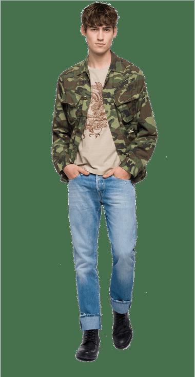 M890600071498010S-Chaqueta-Para-Hombre-Overshirt-Camo-Sencilla