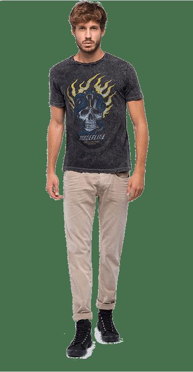 Camiseta-Para-Hombre-T-Shirt-GrisM-Replay