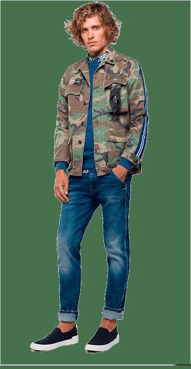 Chaqueta-Para-Hombre-Jacket-Verde-L-Replay