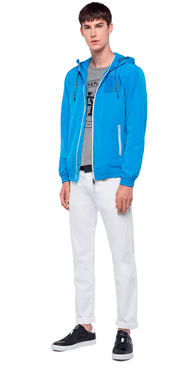 Chaqueta-Para-Hombre-Jacket-Azul-L-Replay