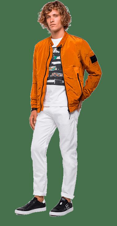 Chaqueta-Para-Hombre-Jacket-Naranja-L-Replay