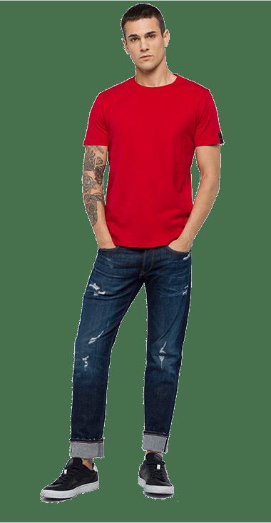 Camiseta-Para-Hombre-T-Shirt-Rojo-S-Replay