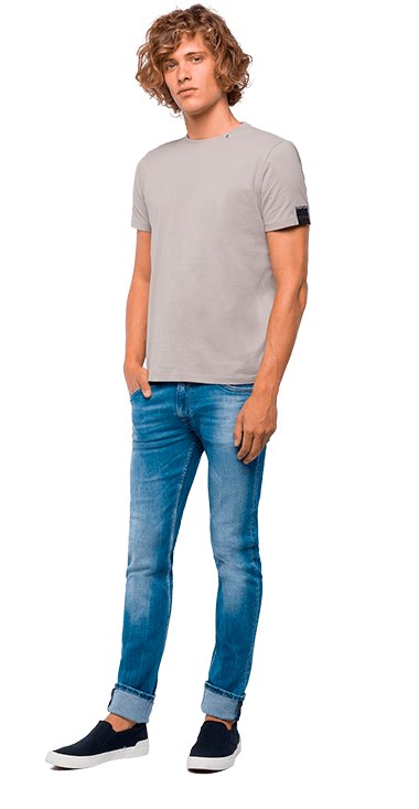 Camiseta-Para-Hombre-T-Shirt-GrisS-Replay