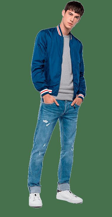 Chaqueta-Para-Hombre-Jacket-Azul-Oscuro-S-Replay