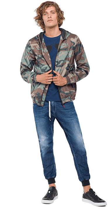 Chaqueta-Para-Hombre-Jacket-Verde-S-Replay