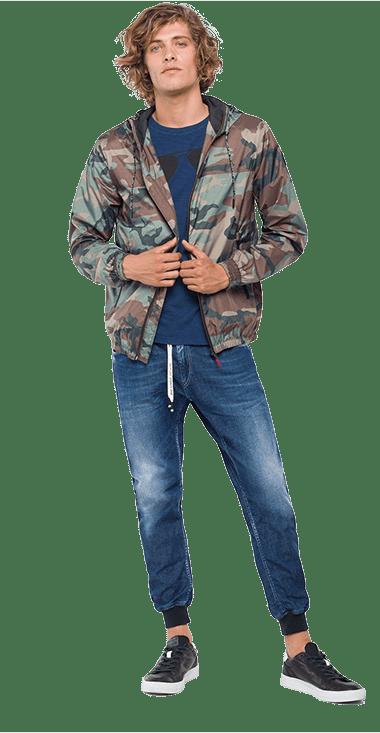 Chaqueta-Para-Hombre-Jacket-Verde-Xl-Replay
