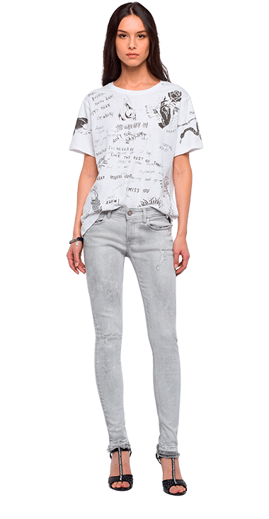Camiseta-Para-Hombre-T-Shirt-Blanco-S-Replay