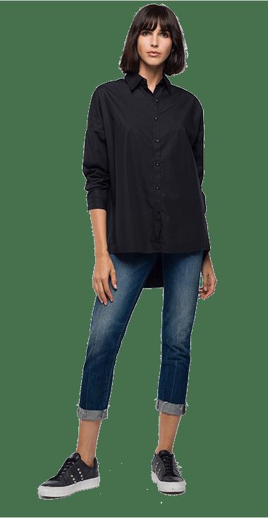 Camisa-Para-Hombre-Shirt-Negro-Xxs-Replay