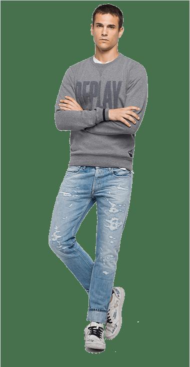 Buzo-Para-Hombre-Sweatshirt-GrisXl-Replay