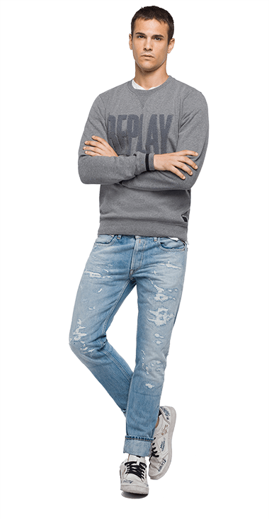 Buzo-Para-Hombre-Sweatshirt-GrisS-Replay