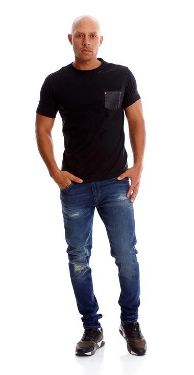 Camiseta-Para-Hombre-Single-Jersey-Replay