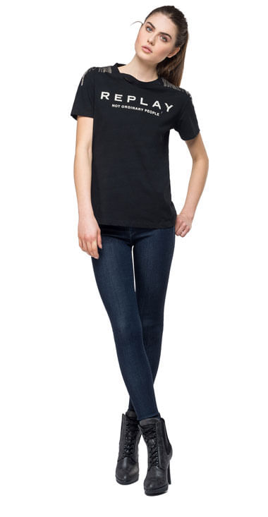 Camiseta-Para-Mujer-Light-Open-End-Jerse-Replay