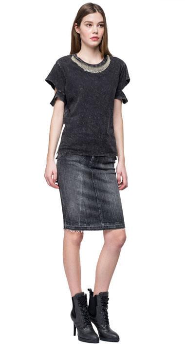 Camiseta-Para-Mujer-Garment-Dyed-Cotton-Jersey-Replay