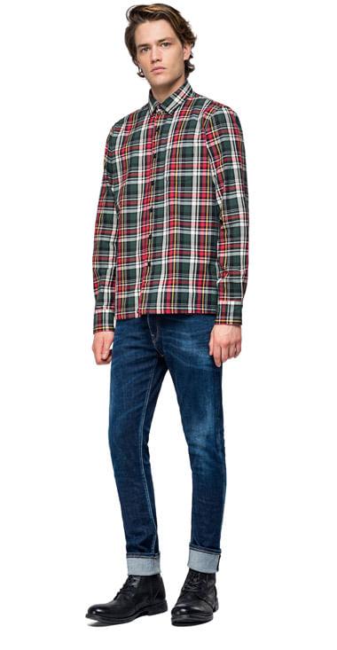 Camisa-Para-Hombre-Cotton-Flanel-Check-Replay