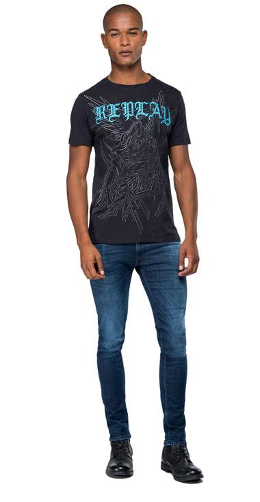 Camiseta-Para-Hombre-Slub-Jersey-Replay