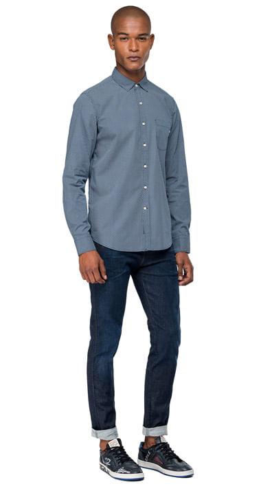 camisa-para-hombre-micro-dots-printed-fabric-replay