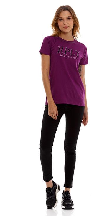 camiseta-para-mujer-cotton-jersey-replay