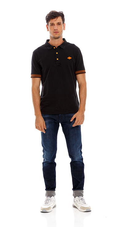 polo-para-hombre-garment-dyed-cotton-piquet-replay