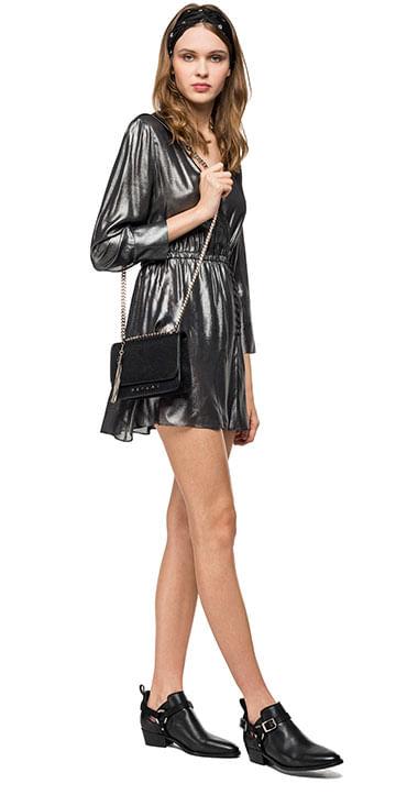 vestido-corto-para-mujer-laminated-viscose-georgette-replay