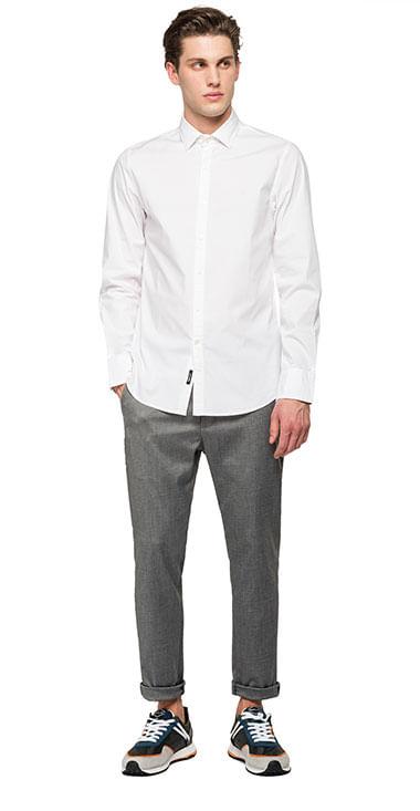 camisa-para-hombre-stretch-popeline-replay