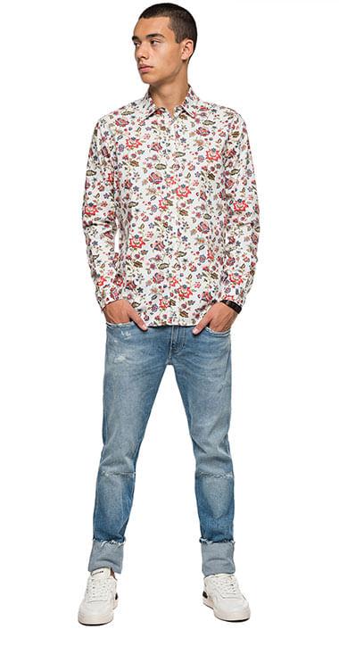 camisa-para-hombre-printed-cotton-dobby-replay