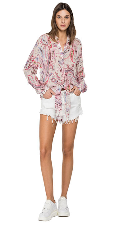 Camisa-Para-Mujer-All-Over-Printed-Viscose-Georgette-Replay