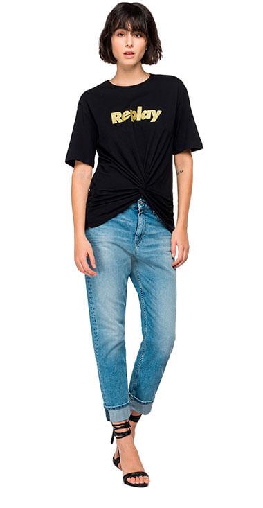 Camiseta-Para-Mujer-Piece-Dyed-Cotton-Jersey-Replay