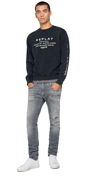 Buzo-Cerrado-Para-Hombre-Garment-Dyed-Cotton-Fleece-Replay