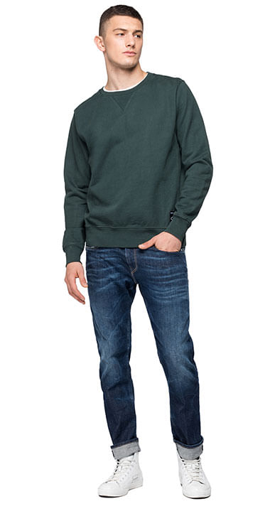 Buzo-Hoodie-Abierto-Para-Hombre-Compact-Cotton-Fleec-Replay