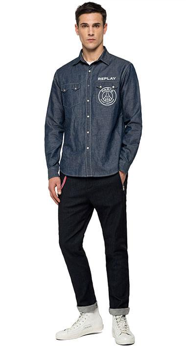 Camisa-Para-Hombre-Psg-Shirt-Capsule-Replay