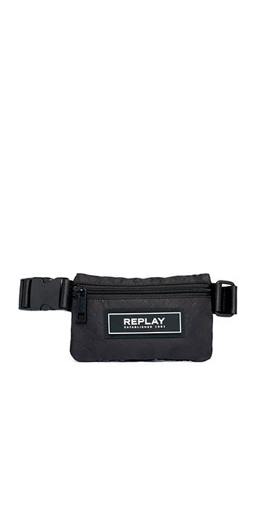 Riñonera-Para-Hombre-Debossed-Recycled-Polyester-Replay
