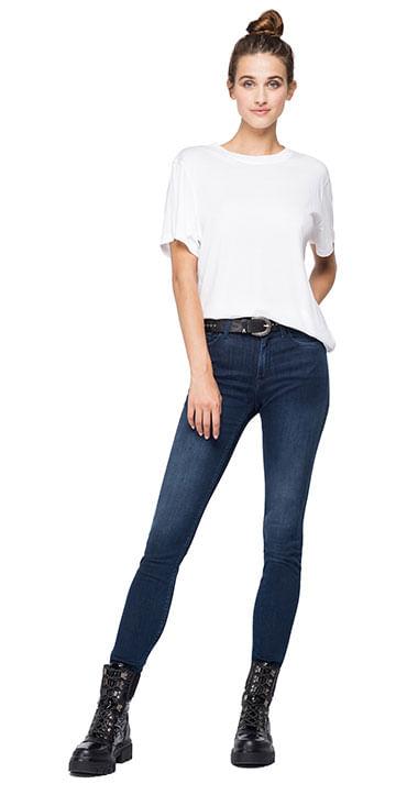 Camiseta-Para-Mujer-Piece-Dyed-Cotton-Mo-Replay