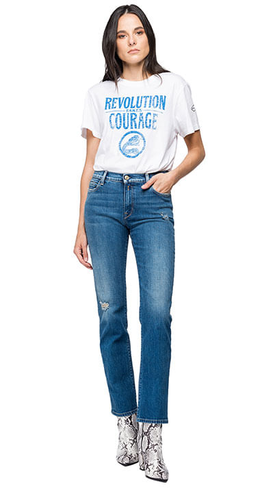 Camiseta-Para-Mujer-Garment-Dyed-Light-C-Replay