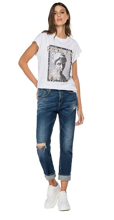 Camiseta-Para-Mujer-Slub-Cotton-Jersey-Replay