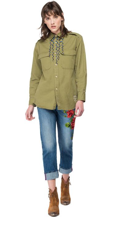 Camisa-Para-Mujer-Cotton-Linen-Caval-Replay