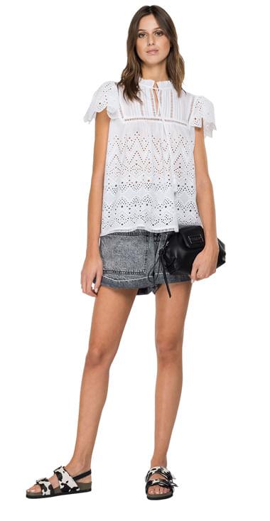 Camisa-Para-Mujer-Geometric-Cotton-Replay