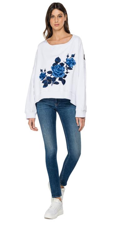 Buzo-Cerrado-Para-Mujer-Piece-Dyed-Cotton-Fleece-Replay