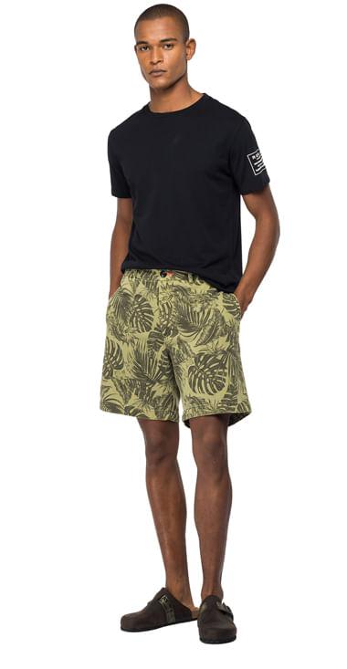 Bermuda-Cargo-Para-Hombre-Printed-Cotton-Satin-Replay